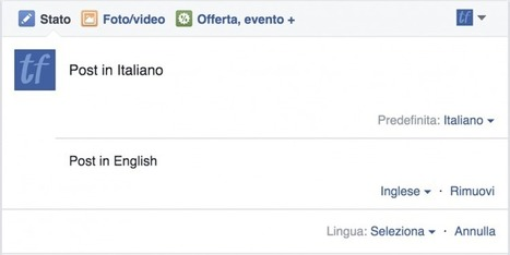 Come scrivere Post in Più Lingue su una Pagina Facebook | Digital Marketing News & Trends... | Scoop.it
