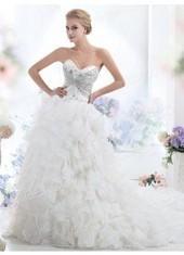 Ball Gown Sweetheart Chapel Train Chiffon Ivory Wedding Dress Lbldb12120 for $1,349   Bellafuny   Scoop.it