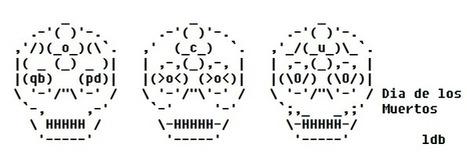 Dia de los Muertos ASCII Art | ASCII Artist | ASCII Art | Scoop.it