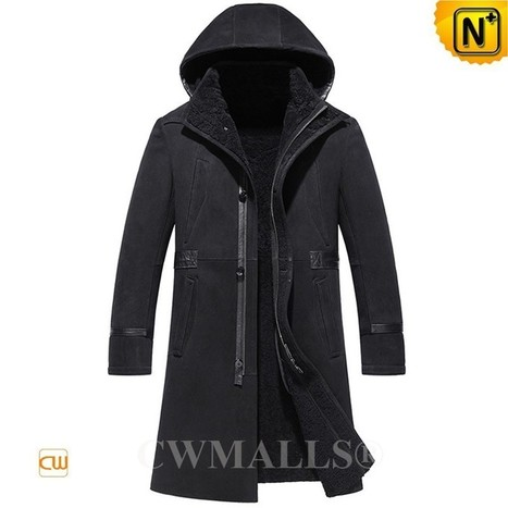 CWMALLS® Hood Sheepskin Leather Trench Coat CW838032 | Leather Trench Coat | Scoop.it