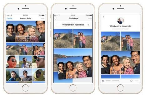 Facebook Live Video, Collage : 3 nouveautés à découvrir ! | Internet world | Scoop.it