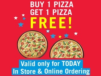 Buy 1 Get 1 Free Domino's Pizza| Today Only | Online Shopping Coupon 2015 | Scoop.it