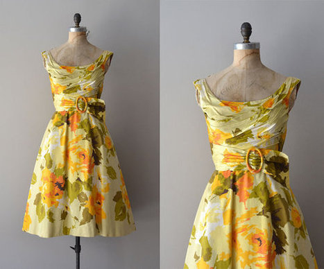 vintage garden party dress | Beautiful clothes | Scoop.it