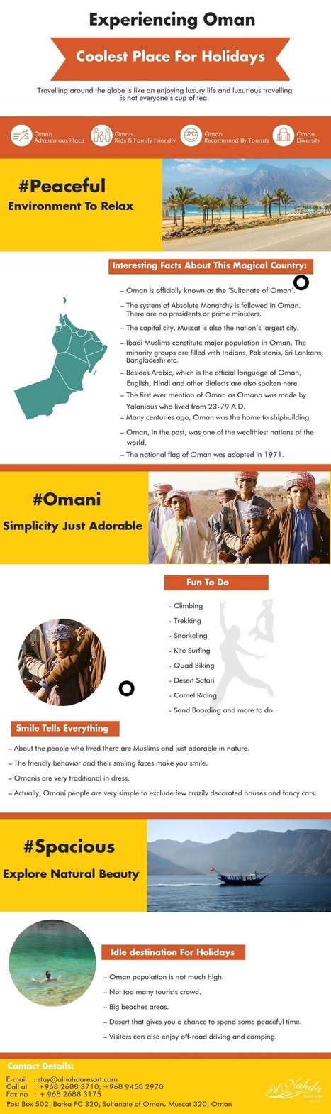 Experiencing Oman: Coolest Place For Holidays   Hotels   Resorts   Restaurants   Scoop.it