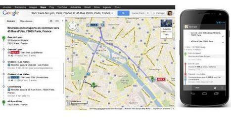 Paris : les transports en commun disponibles dans Google Maps | Inside Google | Scoop.it