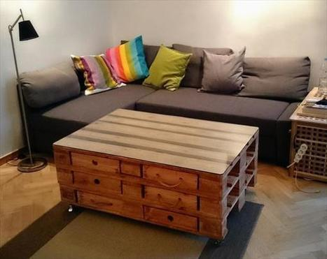 DIY Pallet Coffee Table Design and Ideas   99 Pallets   My Blog 2015   Scoop.it