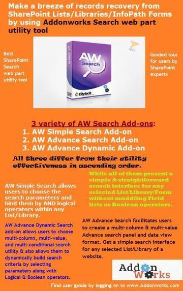 Install Addonworks Search Add-on for Straightforward Search Interface on SharePoint List or Library | Addons and Web-parts | Scoop.it