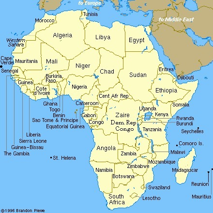 Political Resources on the Net - Map of Africa | Desert Prisons of Africa | Scoop.it