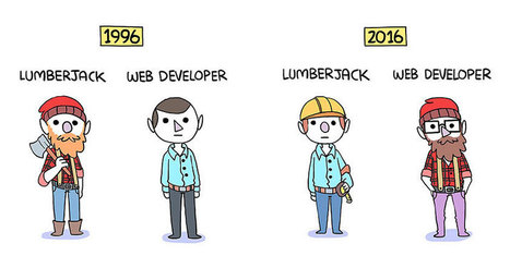 Leñadores y Desarrolladores Web, 1996vs.2016 | El Mundo del Diseño Gráfico | Scoop.it