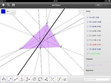 GeoGebra para iPad, tablets Android y Windows 8 ya disponible - Gaussianos   Gaussianos   Docencia: TIC, innovación educativa y Ciencias naturales   Scoop.it