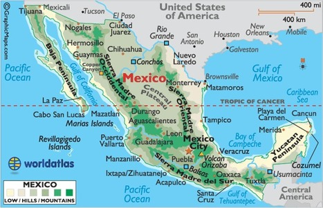 Map of Mexico | Mexico, Brett Chapman | Scoop.it
