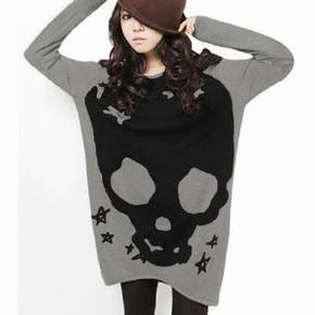 sport blazers: Allegra K Woman Long Sleeve Skull Printed Stretch Pullover Shirt | fashion | Scoop.it