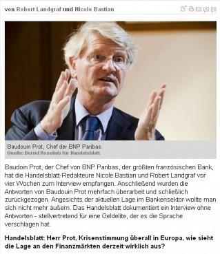 Arrêt sur images - En Allemagne, l'interview sans réponse du patron de la BNP | Agora Brussels World News | Scoop.it