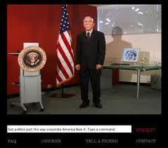 Subservient President Parody of Subsurvient Chicken 2004 | A Cultural History of Advertising | Scoop.it
