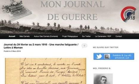 La guerre de Frédéric. Les mémoires d'un poilu sur Twitter | Les outils du Web 2.0 | Scoop.it