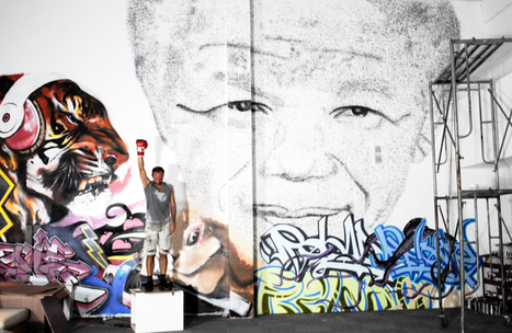artist creates nelson mandela portrait from 27,000 punches - designboom | architecture & design magazine | Hot Upcoming Events!  News!  Random Thoughts | Scoop.it