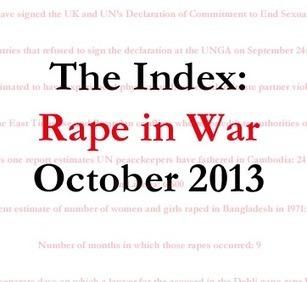 The Index: Rape in War, October 2013 | Gender | Scoop.it