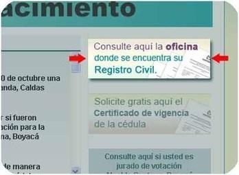 Cerca de 10.000 colombianos han consultado en la página Web de la Registraduría para conocer su registro civil de nacimiento y matrimonio | Noticias en espanol de la senora raveena | Scoop.it