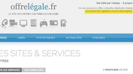 Offre légale : la Hadopi renseigne les premiers internautes | Libertés Numériques | Scoop.it