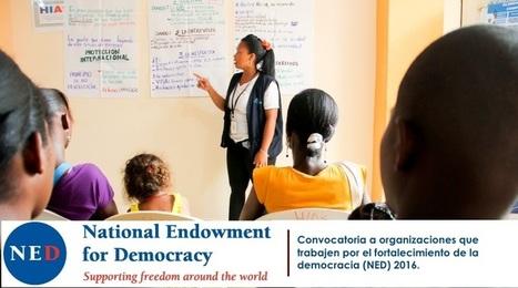 Convocatoria a organizaciones que trabajen por el fortalecimiento de la democracia (NED) 2016. | Regiones y territorios de Colombia | Scoop.it