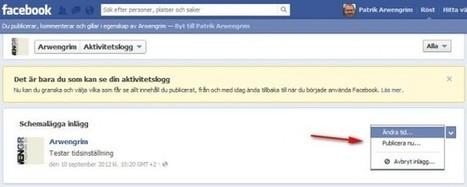Så här schemalägger du statusuppdateringar för sidor på Facebook | Folkbildning på nätet | Scoop.it