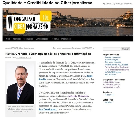 Blogue do IV Congresso Internacional de Ciberjornalismo   Futuro do Jornalismo   Scoop.it