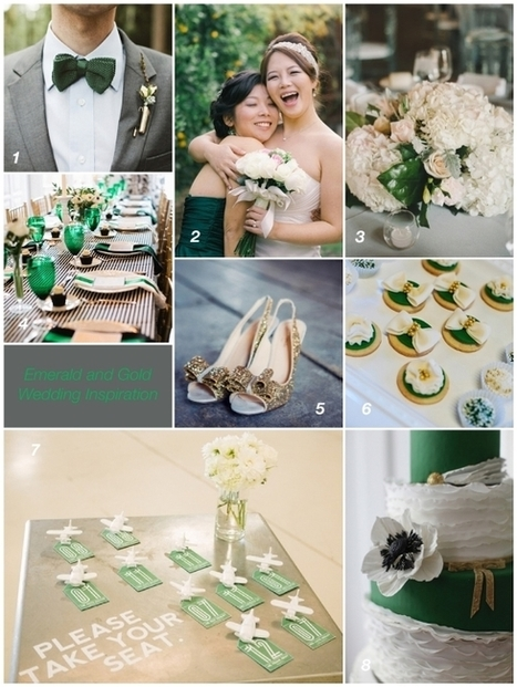 Wedding Inspiration : Emerald and Gold from the Perfectly Posh Events :: Seattle Wedding Planning Blog | Bridal and Wedding News | Scoop.it