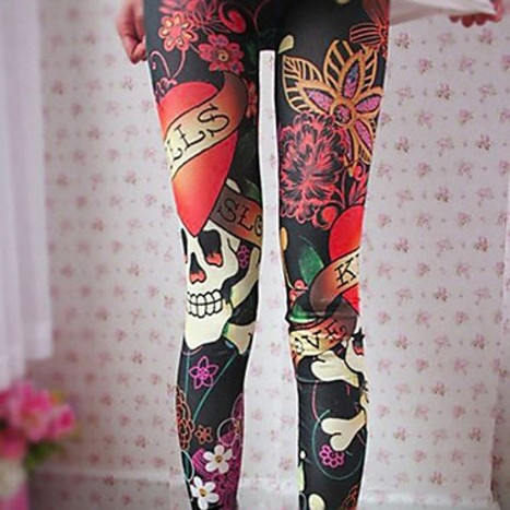 Leggings elásticos con estampado de cráneo - Moda - Lima (Perú) | Emporio GAMARRA | Scoop.it