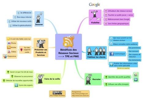 Bénéfices desRéseaux Sociaux pour les TPE et les PME free mind map download | Cartes mentales | Scoop.it