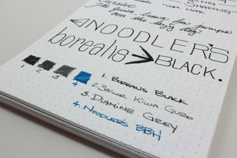 Noodler's Borealis Black Ink - Handwritten Review   Writing instruments   Scoop.it