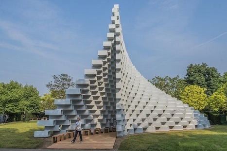 Curving Pavilion of Brilliantly Stacked Bricks Invites Visitors to Interact with Architecture | Le Panda De Cina ✪ | Scoop.it