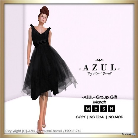 Black Dress March 2015 Group Gift by -AZUL- | Teleport Hub - Second Life Freebies | Second Life Freebies | Scoop.it