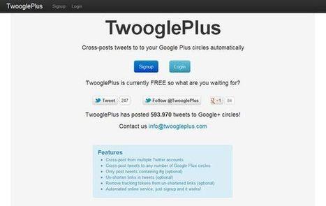 TwooglePlus, publica automáticamente tus tweets en Google+ | #CentroTransmediático en Ágoras Digitales | Scoop.it