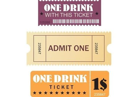 FREE Vectors For Movie & Events Tickets | Graphisme - Illustration | Scoop.it