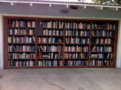 Garage door idea - book shelves | 5 Stars Garage Door and Gate Repair Service | Scoop.it