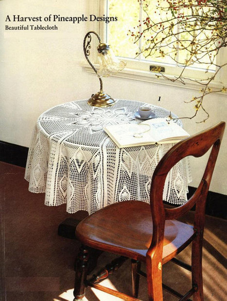 Crochet Doily Big White Lace Crocheted Tablecloth Pineapples Design Round Table Decoraton Christmas Gift Idea | Crochet Miracles Shop on Etsy | Scoop.it