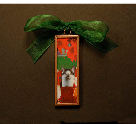 Christmas Tree Ornament-Cat and Santas | Christmas Cat Ornaments and Cards | Scoop.it