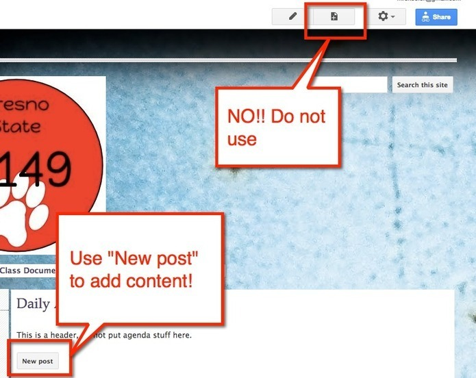 Google Sites: Creating a Blog Style Page