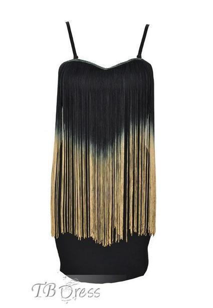 Pealike Gradient Tassel Straped Bodycon Dress | beauty girl | Scoop.it