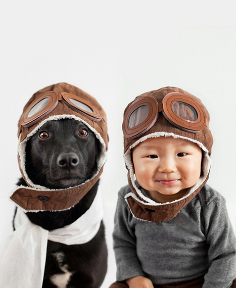 """Mother Takes Lovely Portraits of Her 10-Month-Old Baby and Their Rescue Dog 
