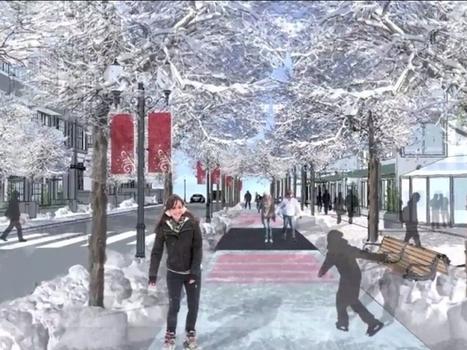Une patinoire GÉANTE de 11 km pour relier les quartiers d'une ville canadienne (Vidéo) | URBANmedias | Scoop.it