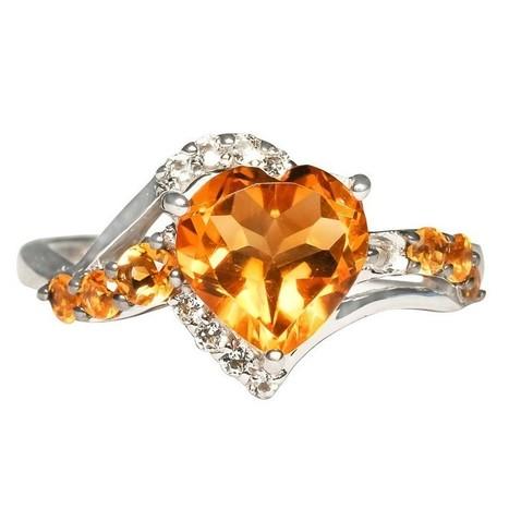 Heart shape antique citrine ring | Tanzanite Jewelry | Scoop.it