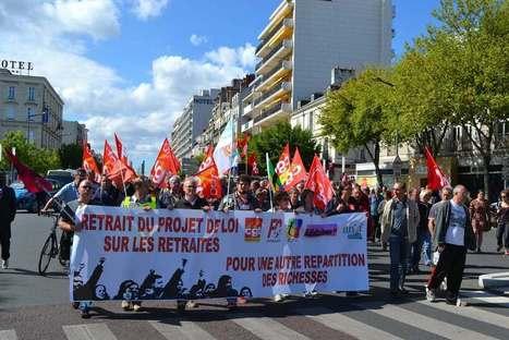 Retraites, 2200 manifestants et comme un fond de dépit - Angers Mag Info | Angers Mag Info | Scoop.it