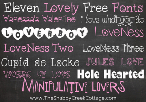 The Shabby Creek Cottage | Decorating | Craft Ideas | DIY: Eleven Lovely Free Fonts | Diseño y Creatividad | Scoop.it