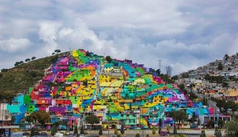 20 000 m² de peinture : un quartier mexicain pris d'assaut par des street-artistes | Mexique | Scoop.it