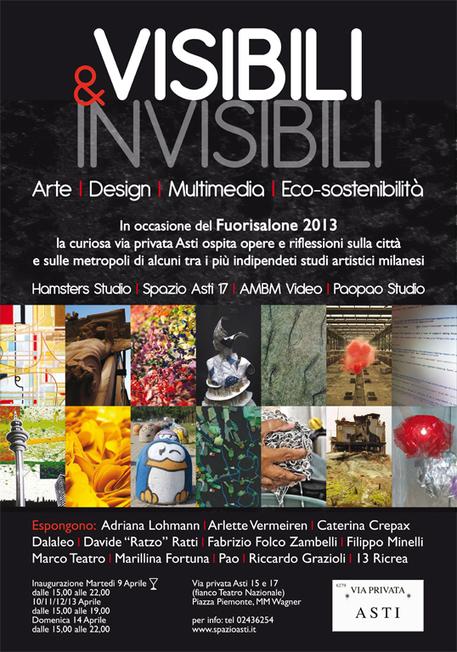 Visibili&Invisibili @ Spazio Asti | MilanoX | autoproduttori | Scoop.it