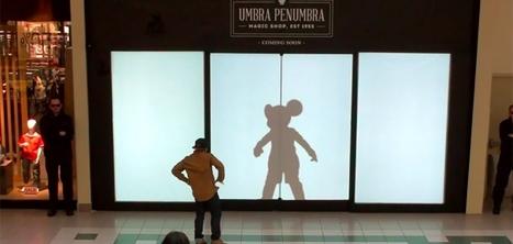 Cette vitrine remplace votre ombre par celle d'un personnage Disney | Retail | Scoop.it