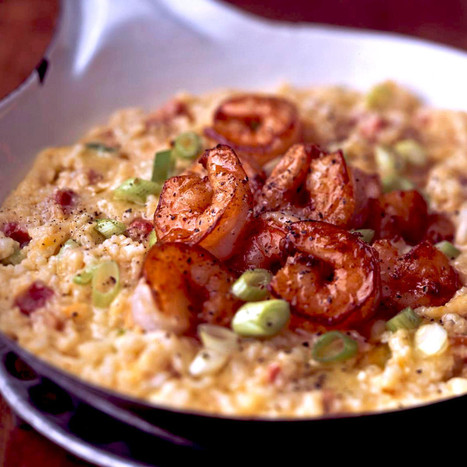 Cheddar Cheese Grits With Shrimp, Pancetta, and Scallions   #Crete Island Adventure   Scoop.it
