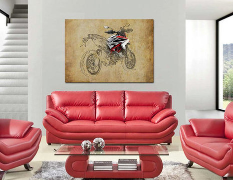 40x28 in. Ducati XII, 100x70cm Art Print poster based on an original art, | Ducati & Italian Bikes | Scoop.it