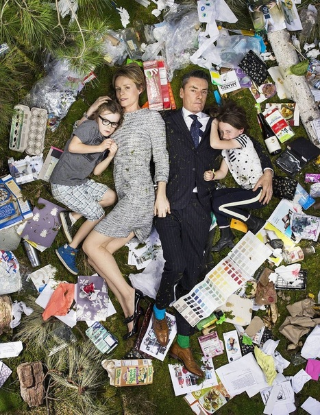 Mesmerizing Photos of People Lying in a Week's Worth of Their Trash  | Elevator Pitch: Education for Sustainability | Scoop.it